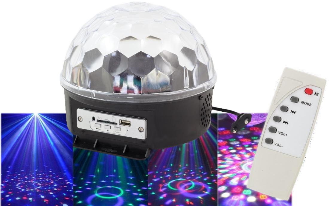 Disco gula LED projektor MP3 + diaľkové ovládanie 3v1